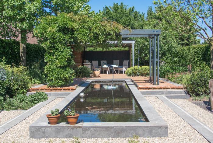 Foto van een tuin in opdracht van eter Groen