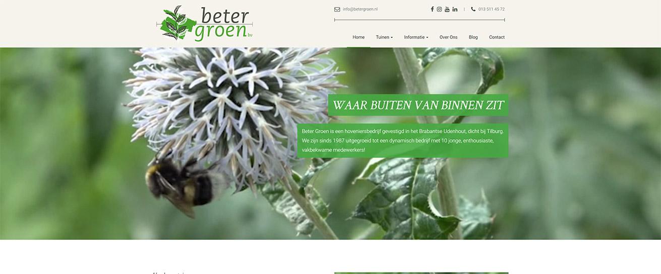 Beter Groen website